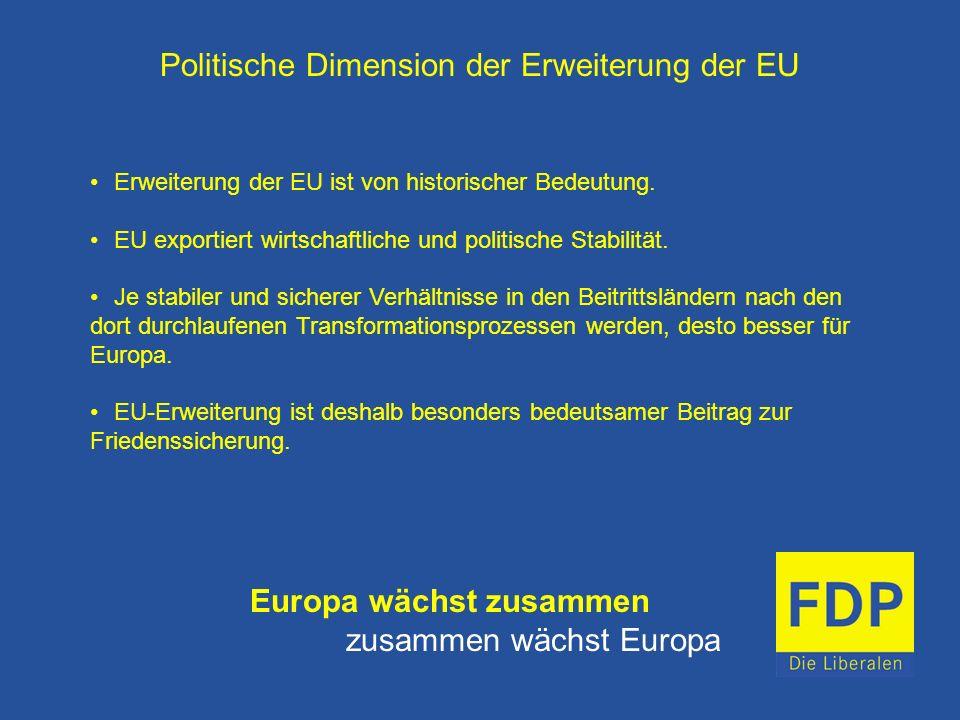 Politische Dimension der Erweiterung der EU