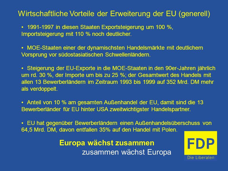 Wirtschaftliche Vorteile der Erweiterung der EU (generell)