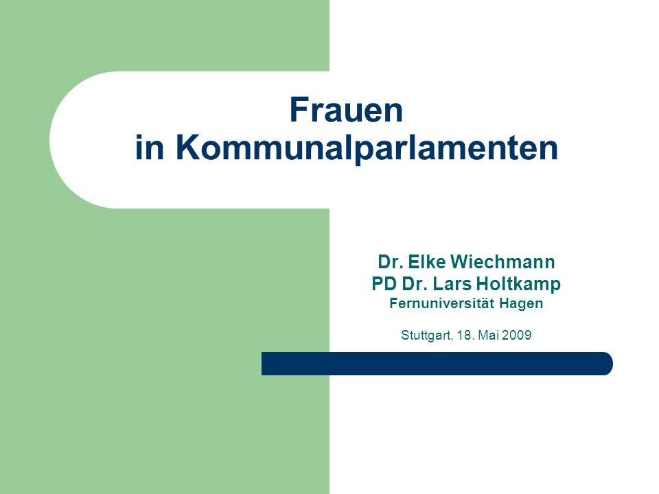 Frauen in Kommunalparlamenten