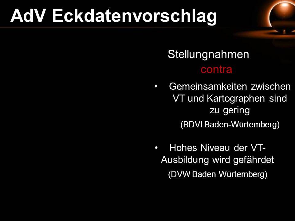 AdV Eckdatenvorschlag