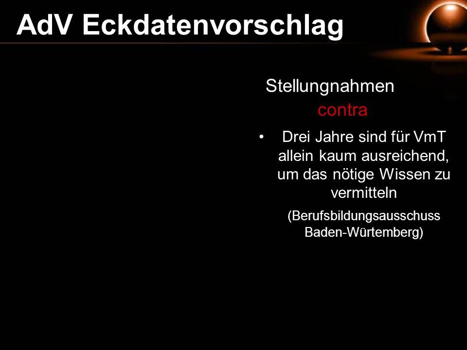 (Berufsbildungsausschuss Baden-Würtemberg)