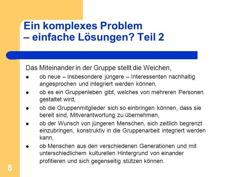 Ein komplexes Problem – einfache Lösungen Teil 2