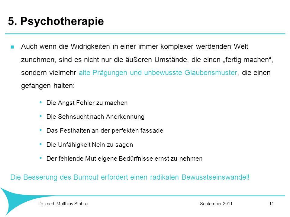 5. Psychotherapie