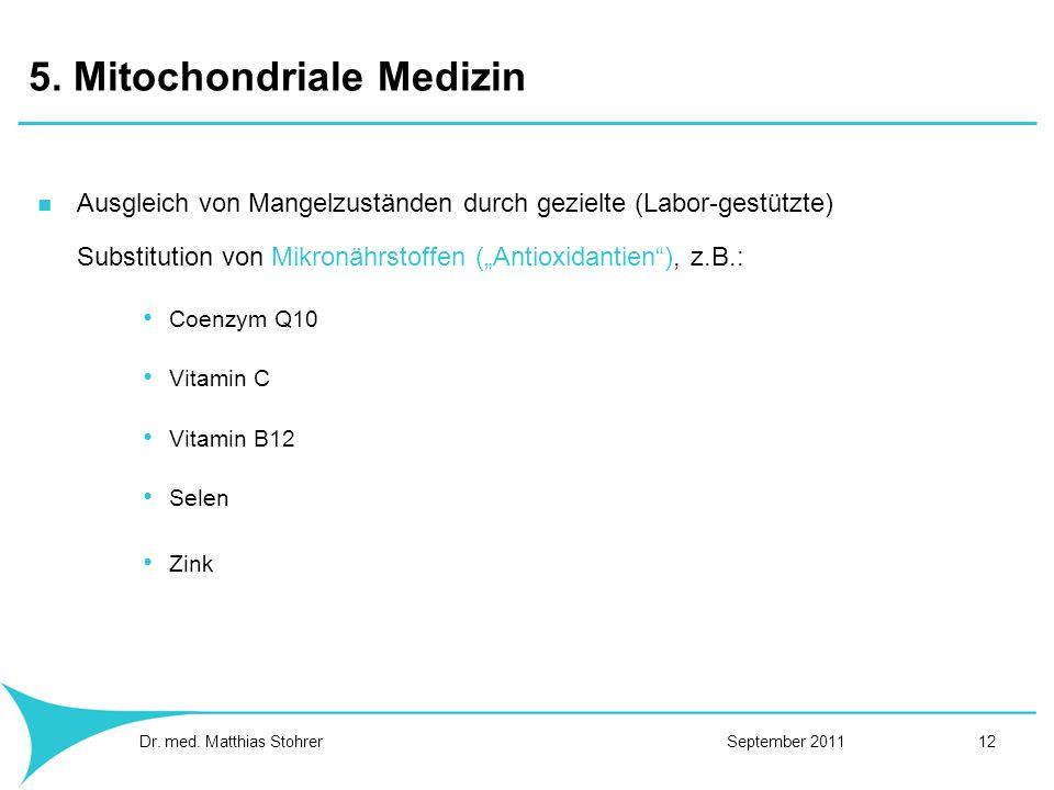 5. Mitochondriale Medizin