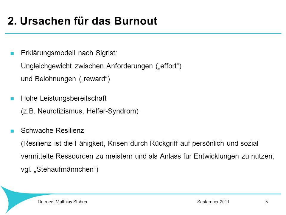 2. Ursachen für das Burnout
