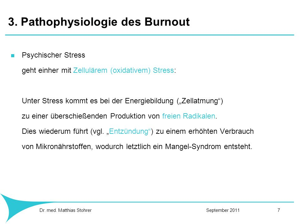 3. Pathophysiologie des Burnout
