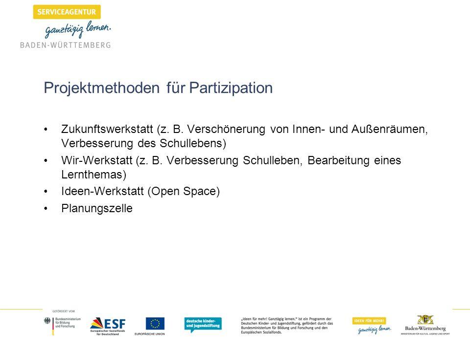 Projektmethoden für Partizipation