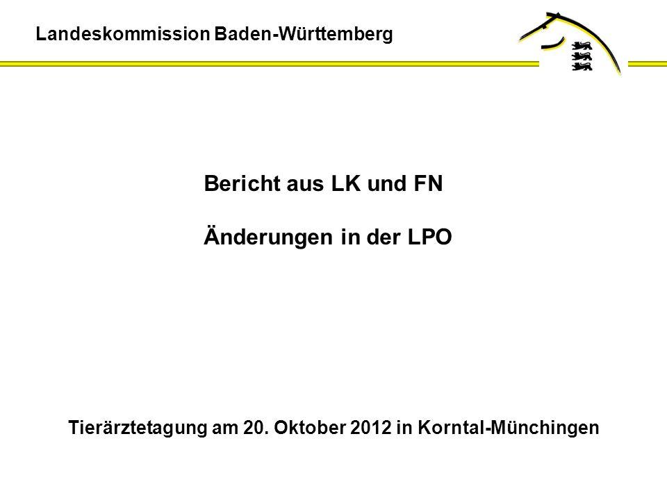Bericht aus LK und FN Änderungen in der LPO