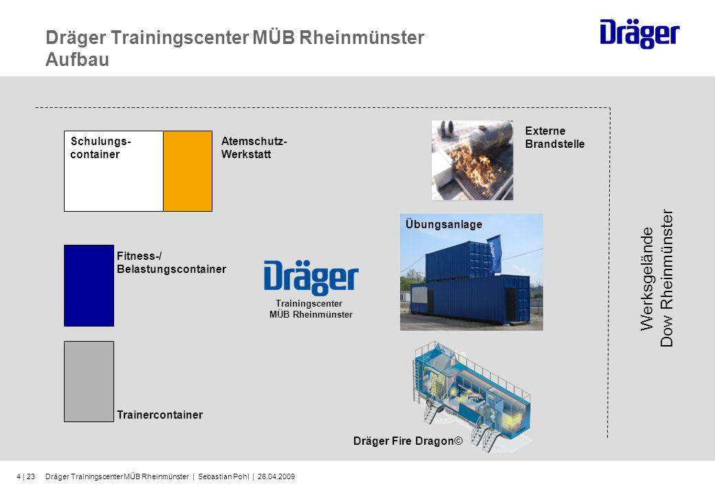 Dräger Trainingscenter MÜB Rheinmünster Aufbau