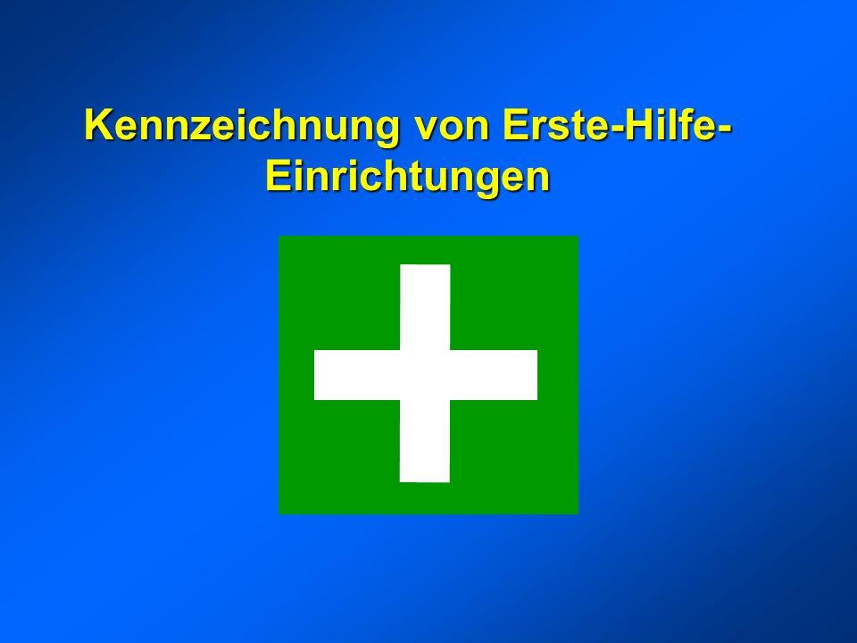 Kennzeichnung von Erste-Hilfe-Einrichtungen