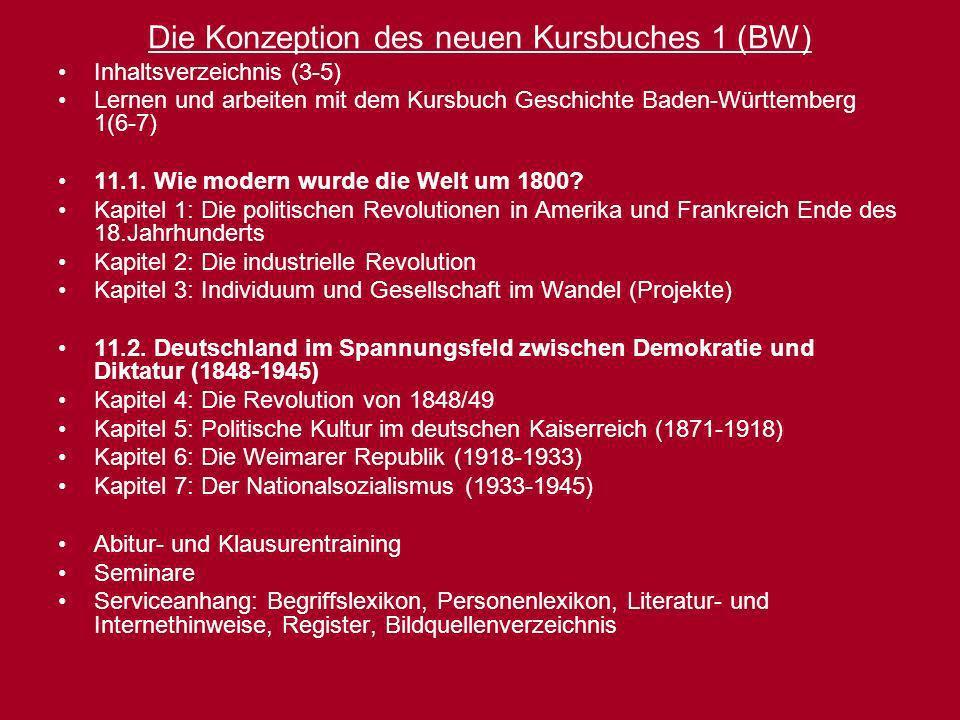 Die Konzeption des neuen Kursbuches 1 (BW)