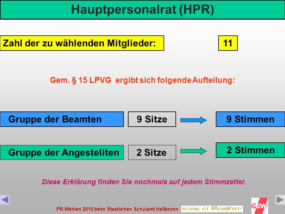Hauptpersonalrat (HPR)