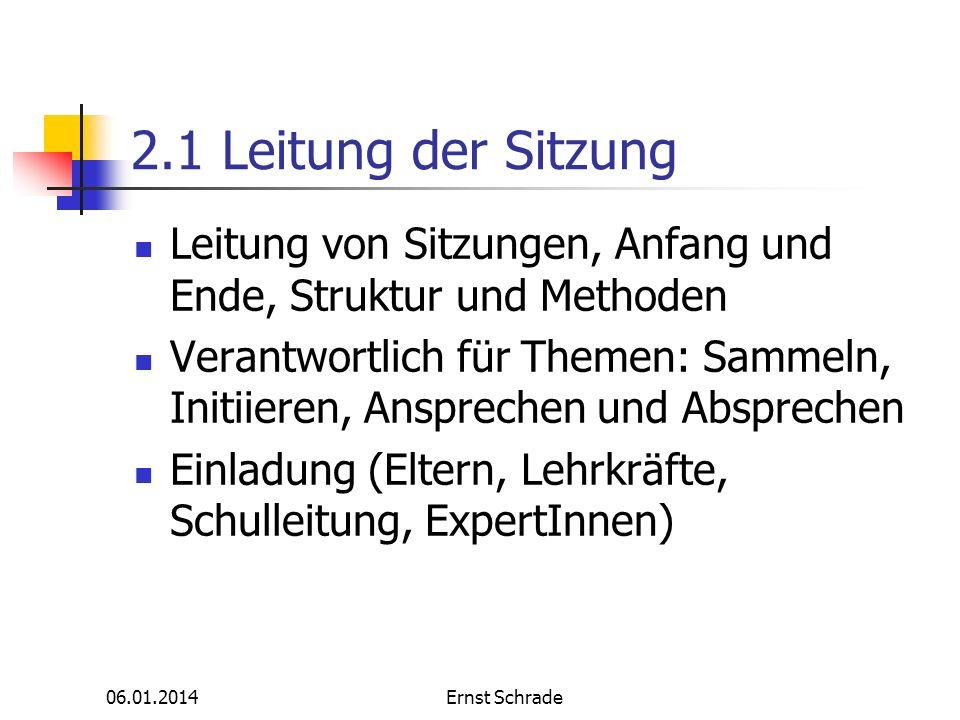 2.1 Leitung der Sitzung Leitung von Sitzungen, Anfang und Ende, Struktur und Methoden.