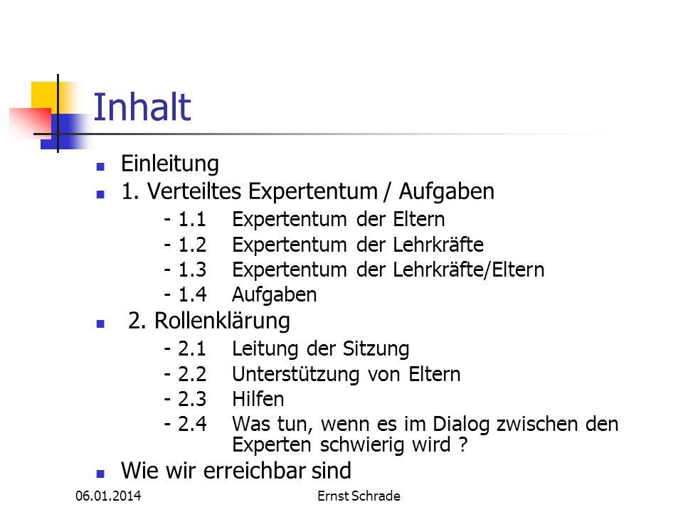 Inhalt Einleitung 1. Verteiltes Expertentum / Aufgaben