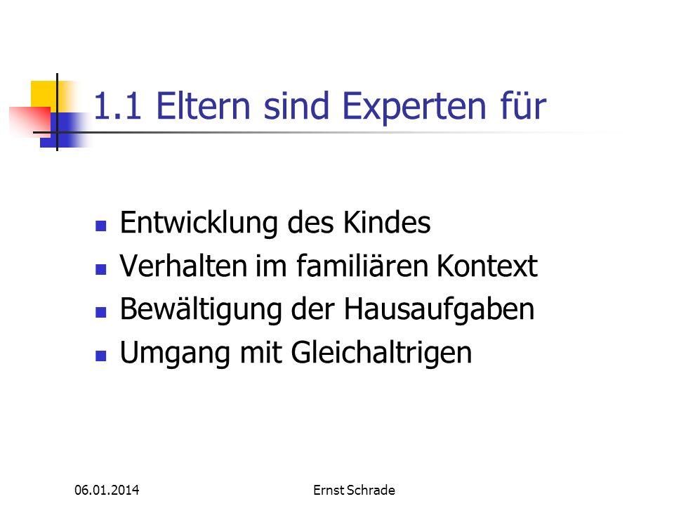 1.1 Eltern sind Experten für
