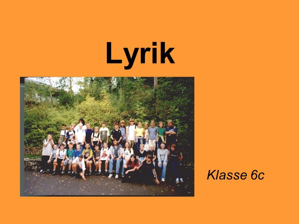 Lyrik Klasse 6c