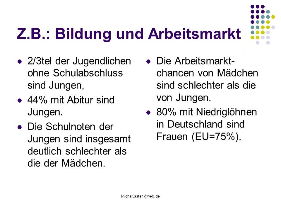 Z.B.: Bildung und Arbeitsmarkt