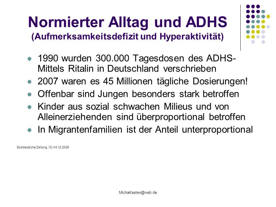 Normierter Alltag und ADHS (Aufmerksamkeitsdefizit und Hyperaktivität)