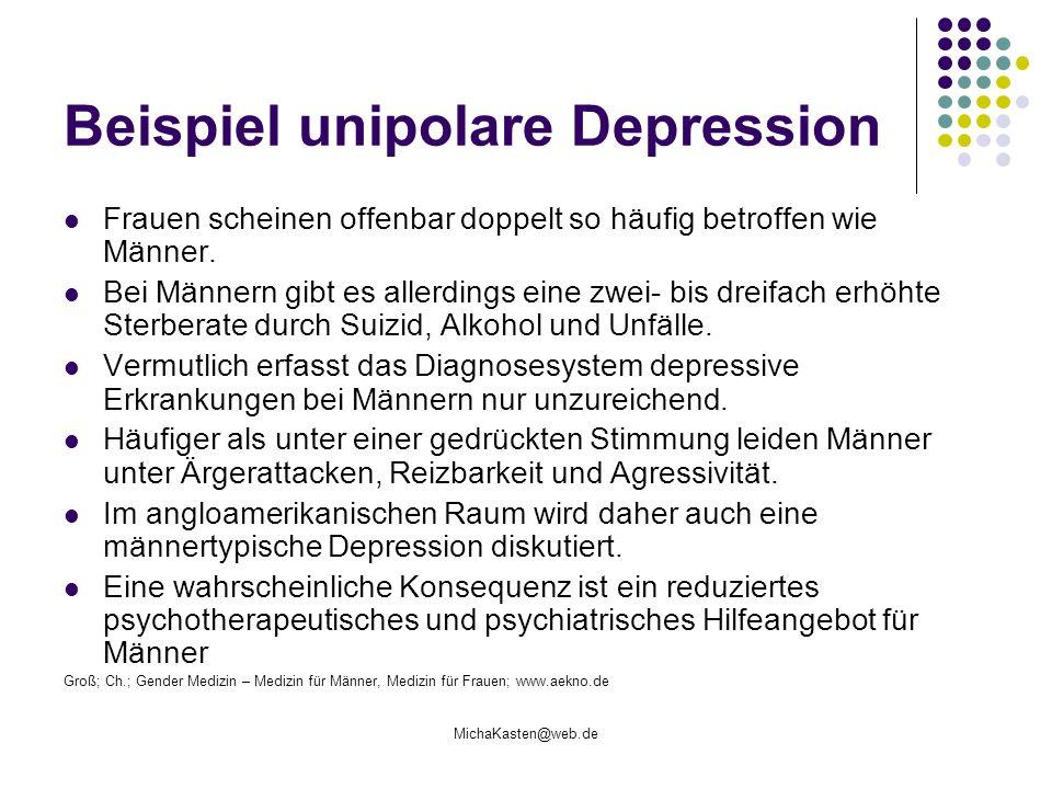 Beispiel unipolare Depression