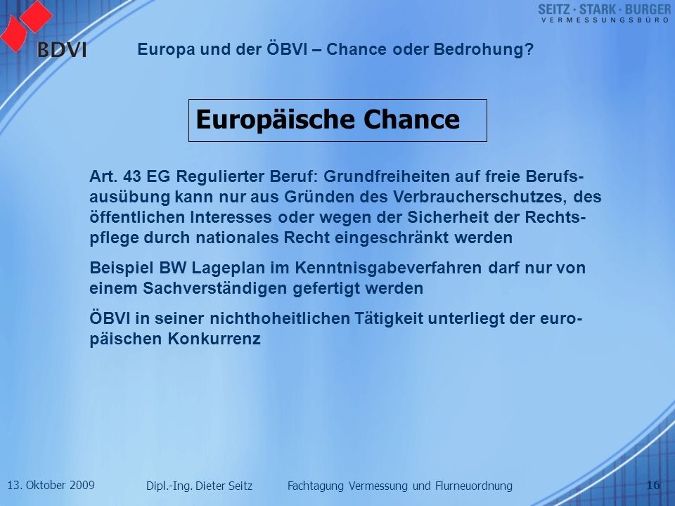 Europäische Chance