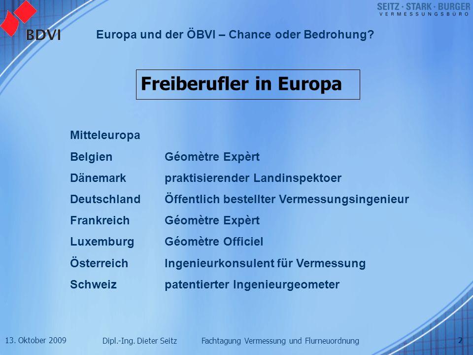 Freiberufler in Europa