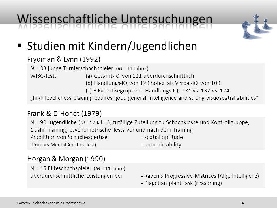 Studien mit Kindern/Jugendlichen