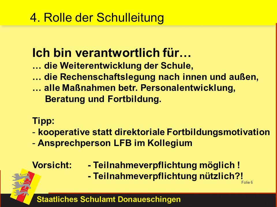 4. Rolle der Schulleitung