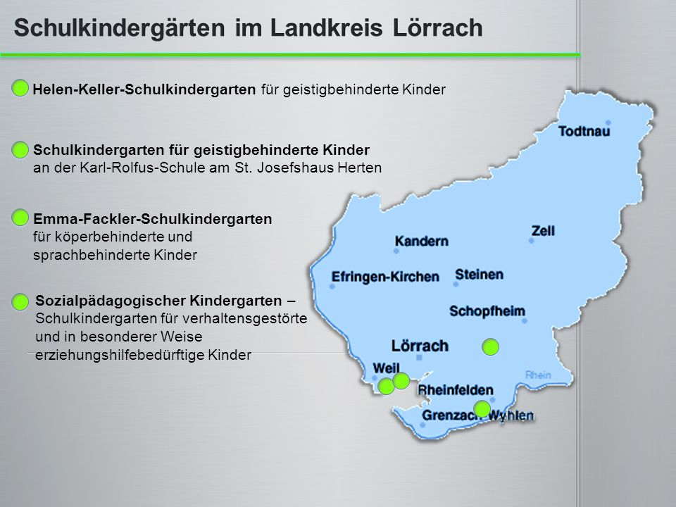Schulkindergärten im Landkreis Lörrach