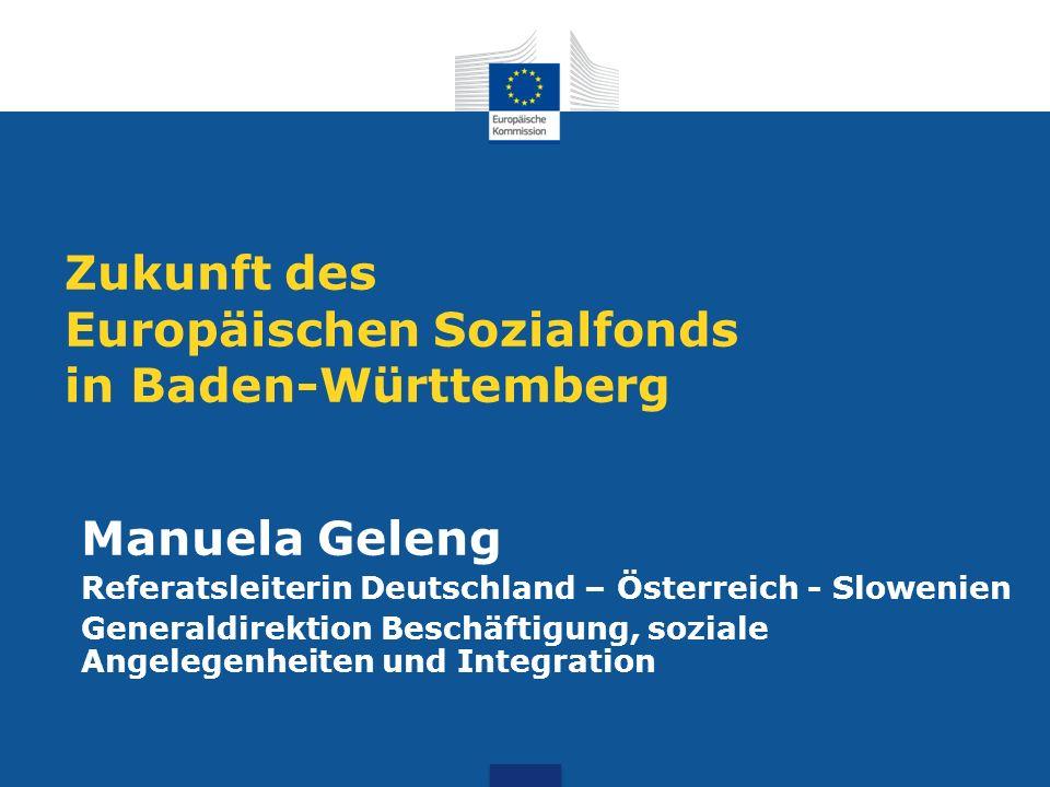 Zukunft des Europäischen Sozialfonds in Baden-Württemberg