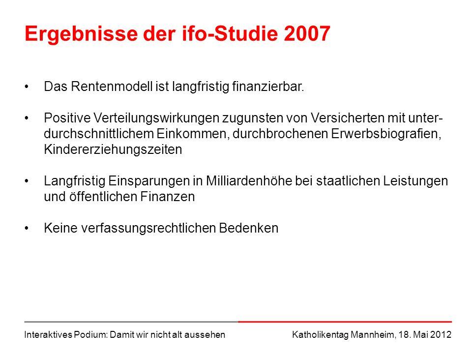 Ergebnisse der ifo-Studie 2007