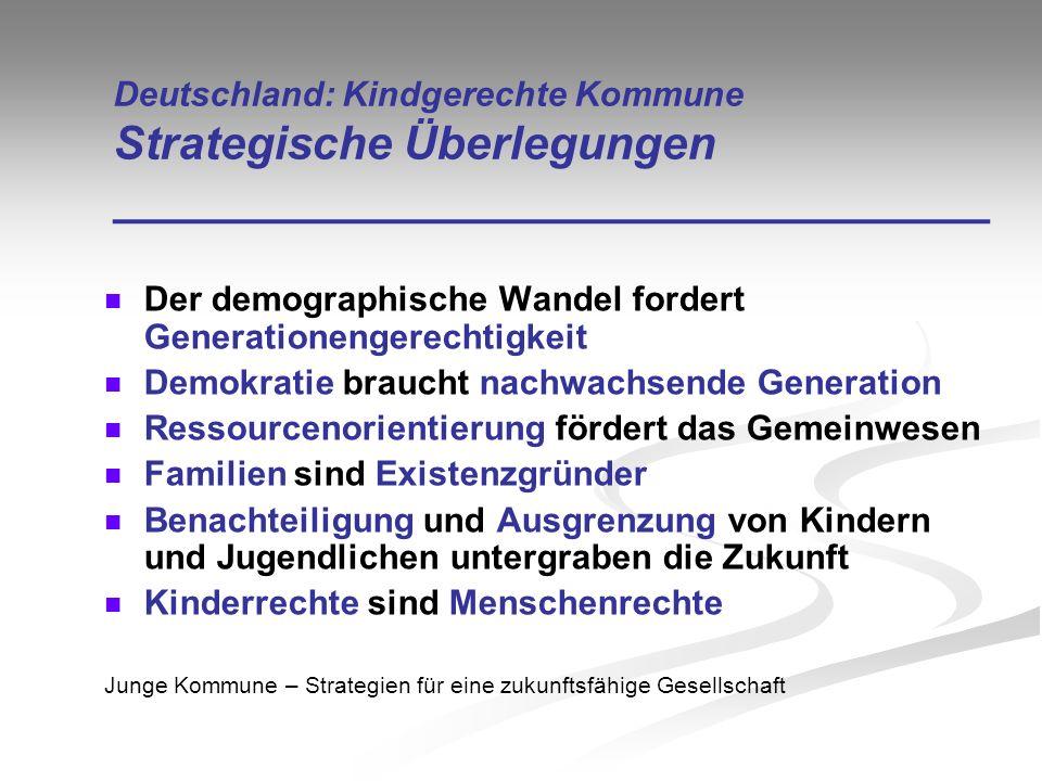 Der demographische Wandel fordert Generationengerechtigkeit