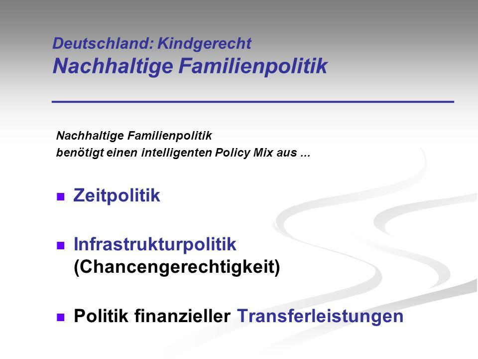 Infrastrukturpolitik (Chancengerechtigkeit)