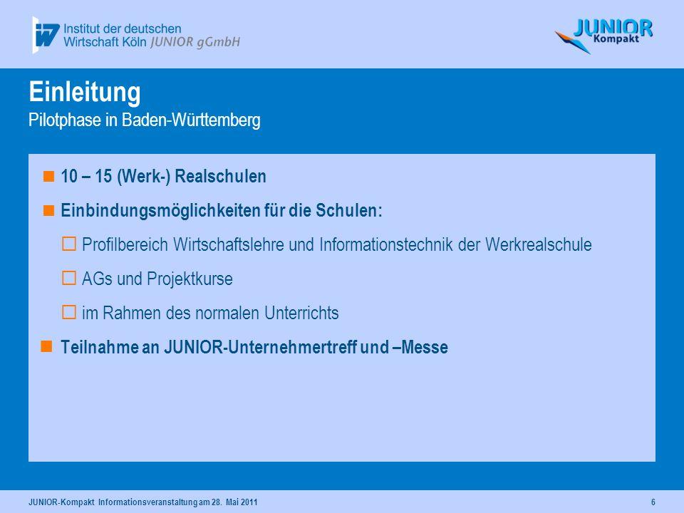 Einleitung Pilotphase in Baden-Württemberg