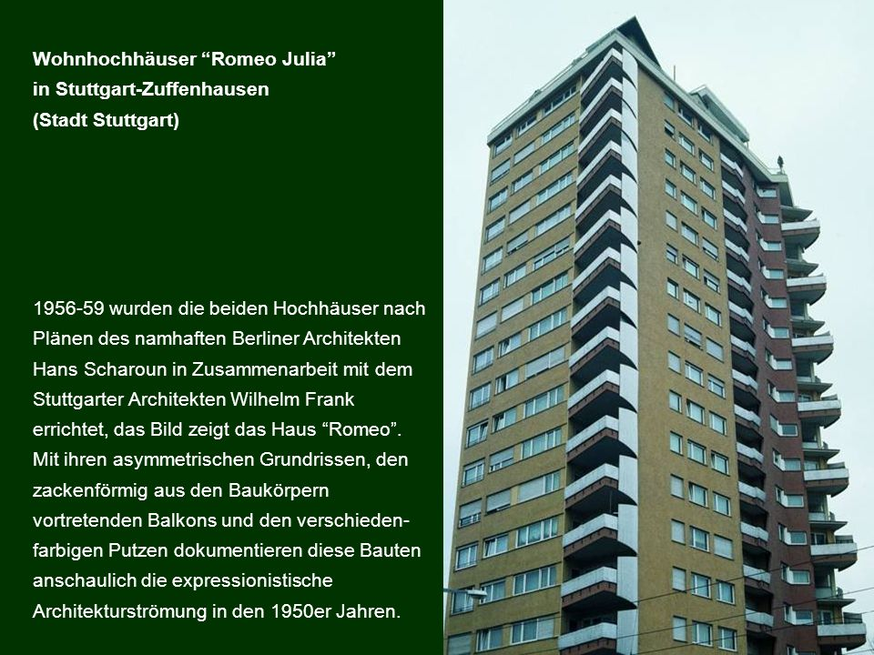 Wohnhochhäuser Romeo Julia in Stuttgart-Zuffenhausen