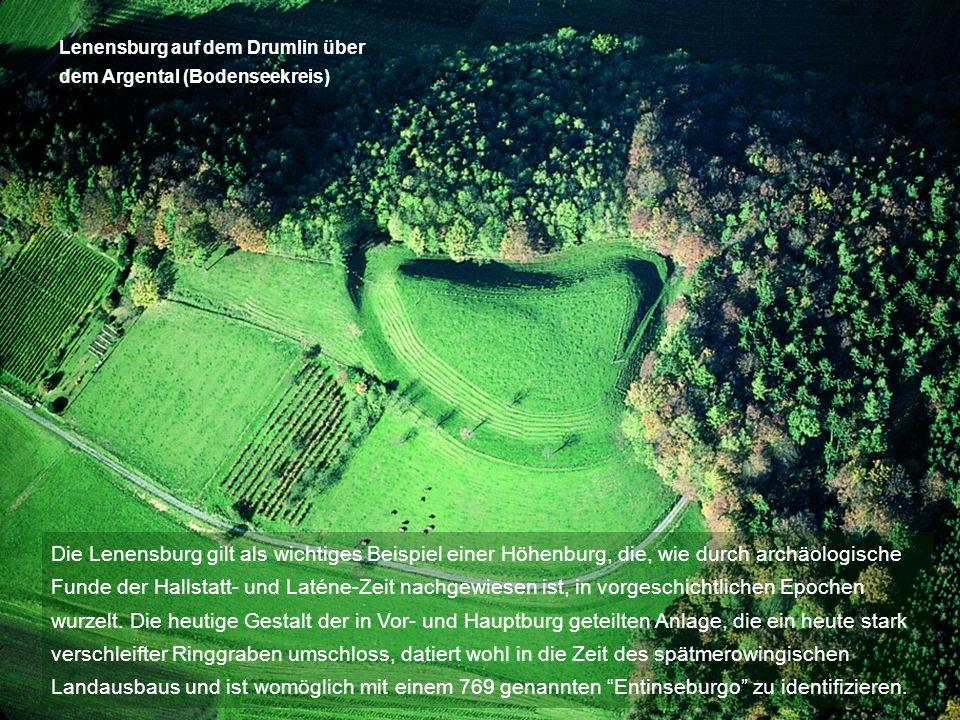 Lenensburg auf dem Drumlin über dem Argental (Bodenseekreis)