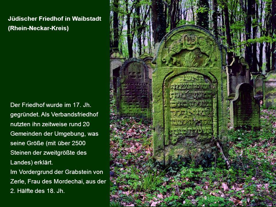 Jüdischer Friedhof in Waibstadt (Rhein-Neckar-Kreis)