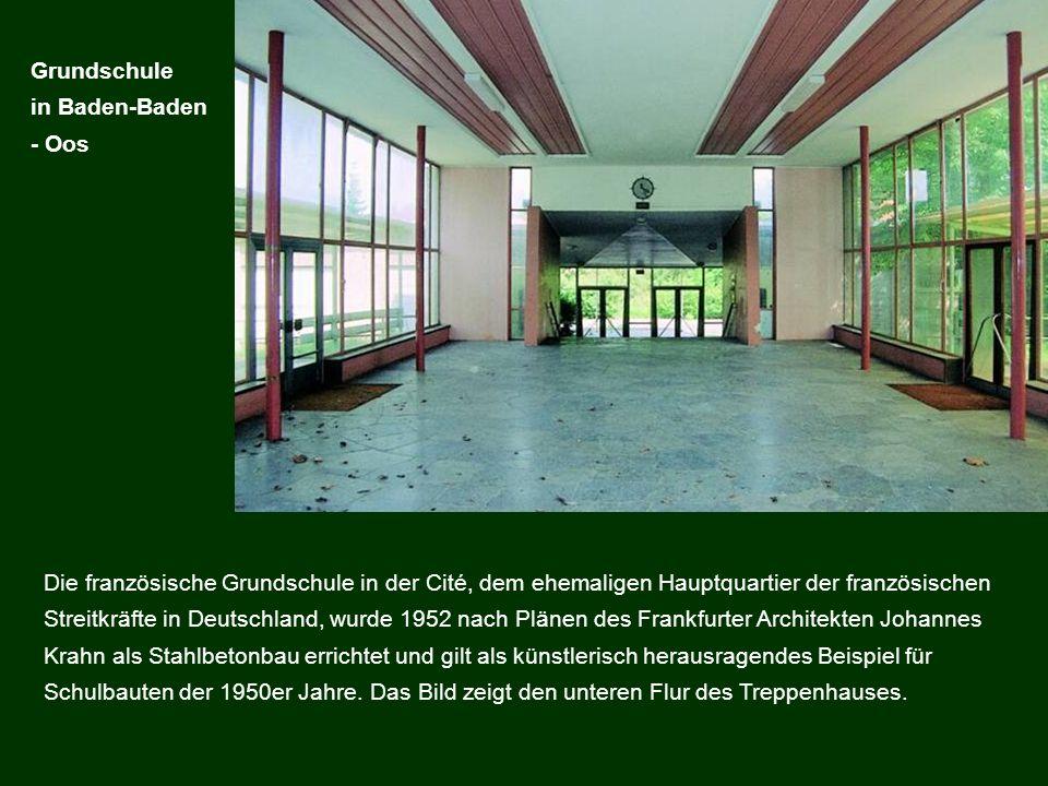 Grundschule in Baden-Baden. - Oos.