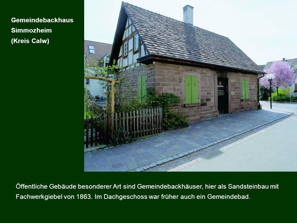 Gemeindebackhaus Simmozheim. (Kreis Calw)