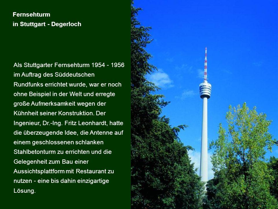 Fernsehturm in Stuttgart - Degerloch.