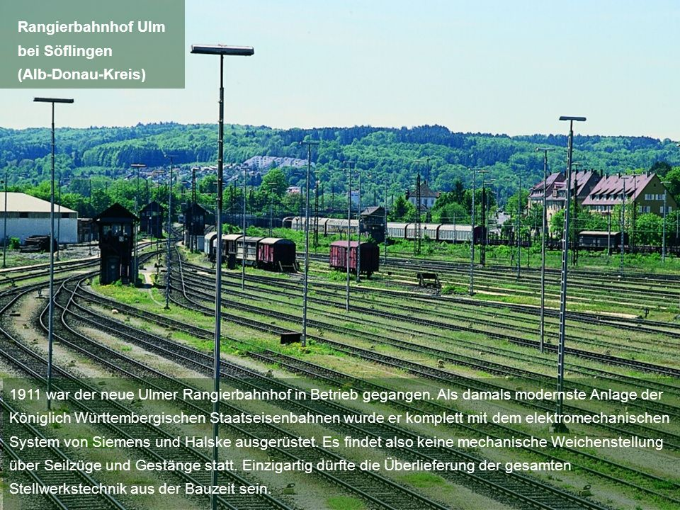 Rangierbahnhof Ulm bei Söflingen. (Alb-Donau-Kreis)