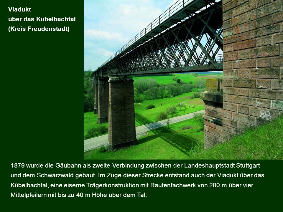 Viadukt über das Kübelbachtal. (Kreis Freudenstadt)