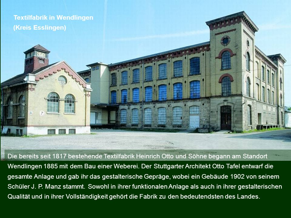 Textilfabrik in Wendlingen