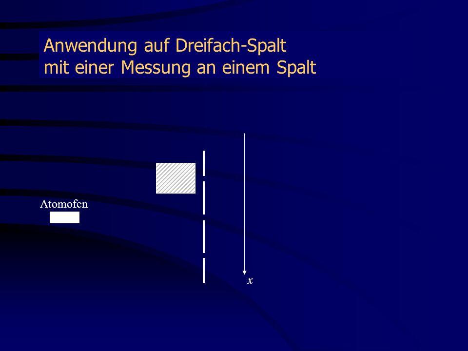 Anwendung auf Dreifach-Spalt mit einer Messung an einem Spalt