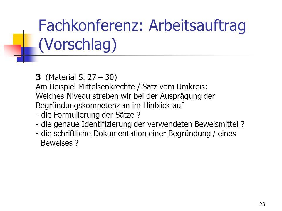 Fachkonferenz: Arbeitsauftrag (Vorschlag)
