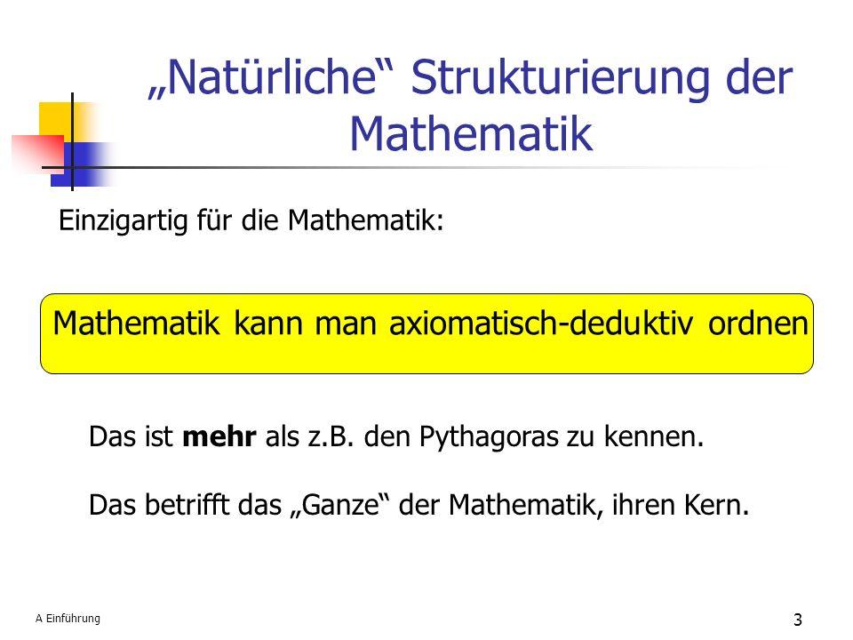 """""""Natürliche Strukturierung der Mathematik"""