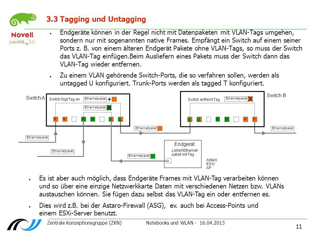 3.3 Tagging und Untagging + X X