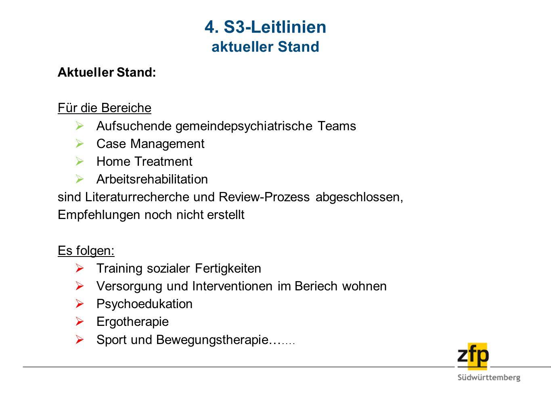 4. S3-Leitlinien aktueller Stand