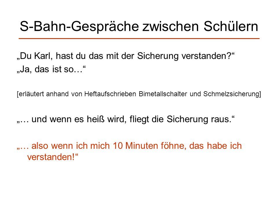 S-Bahn-Gespräche zwischen Schülern