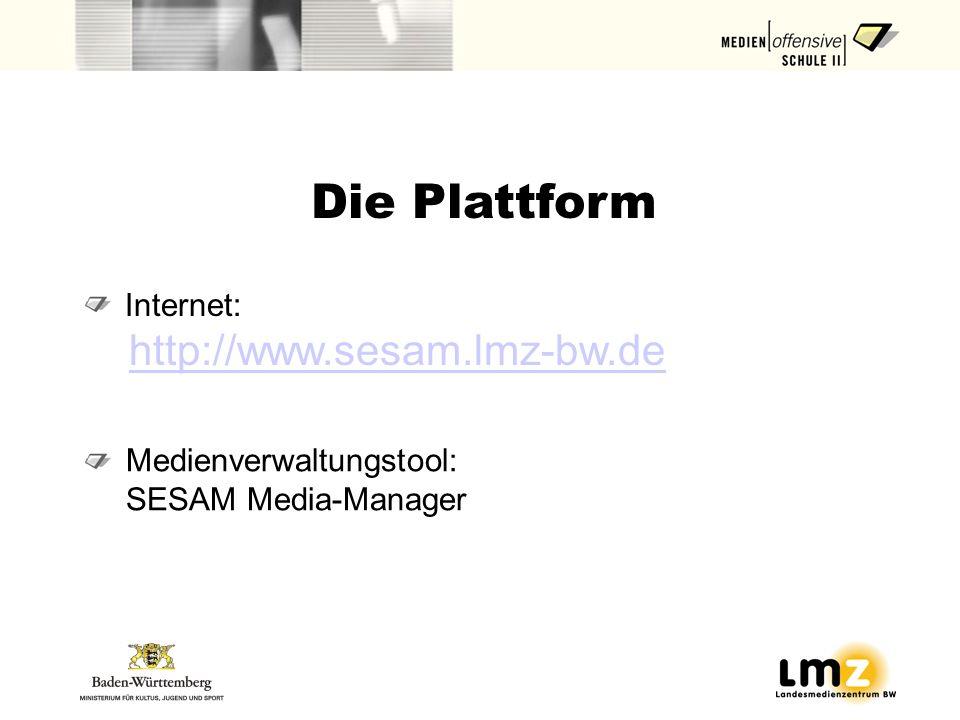 Die Plattform http://www.sesam.lmz-bw.de Internet:
