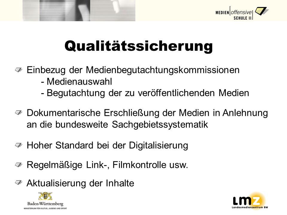 Qualitätssicherung Einbezug der Medienbegutachtungskommissionen